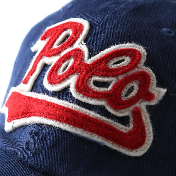 POLO RALPH LAUREN ポロ ラルフローレン ロゴ ベースボールキャップ 帽子 キャップ ネイビー USA 直輸入 メンズ 710567696004