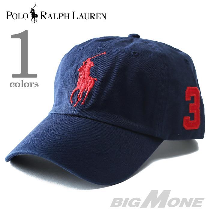 POLO RALPH LAUREN ポロ ラルフローレン ビッグポニー ベースボールキャップ 帽子 キャップ ネイビー USA 直輸入 メンズ 710589445001