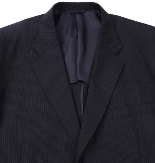 大きいサイズ メンズ MICHIKO LONDON KOSHINO シングル 2ツ釦 スーツ ダークネイビー 1152-7311-1 4L 5L 6L 7L 8L