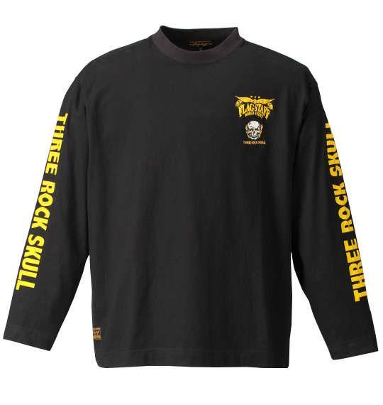大きいサイズ メンズ FLAGSTAFF 刺繍 + プリント 長袖 Tシャツ 長袖Tシャツ ブラック 1158-7355-1 3L 4L 5L 6L 8L
