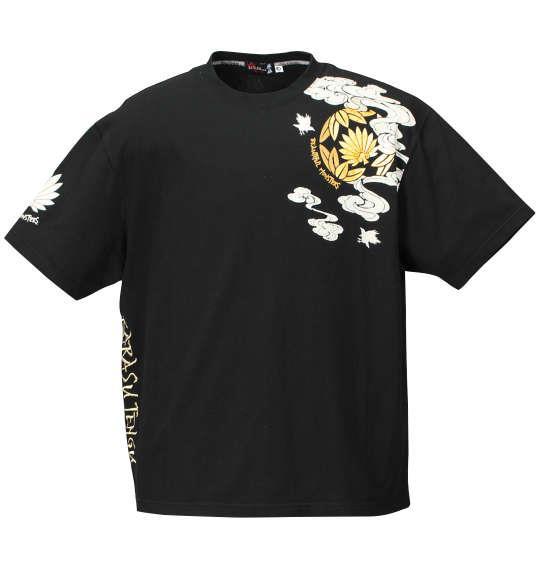 大きいサイズ メンズ 絡繰魂抜刀娘 凛鳥天狗 半袖 Tシャツ 半袖Tシャツ ブラック 1158-7631-1 3L 4L 5L 6L 8L