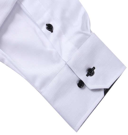 大きいサイズ メンズ HIROKO KOSHINO HOMME 2枚衿風マイターB.D長袖シャツ ホワイト 1177-7300-1 3L 4L 5L 6L 7L 8L