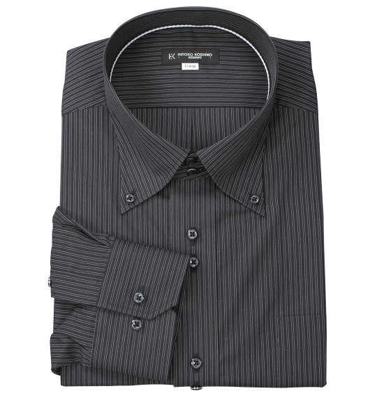 大きいサイズ メンズ HIROKO KOSHINO HOMME ドゥエB.D長袖シャツ ブラック 1177-7305-1 3L 4L 5L 6L 7L