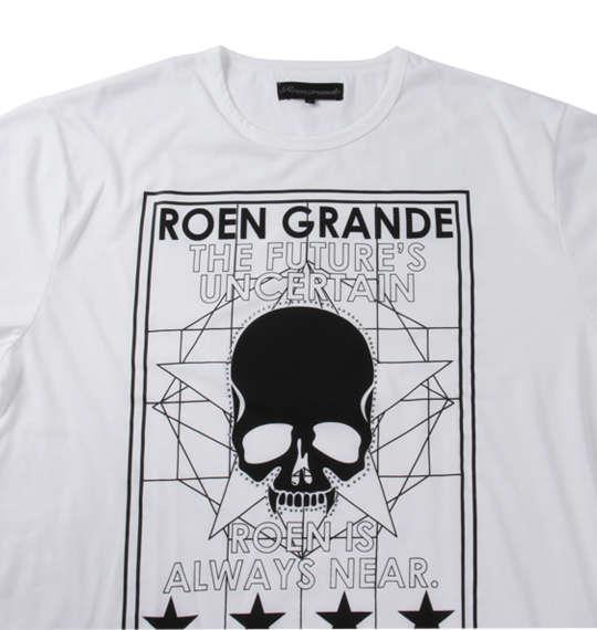 大きいサイズ メンズ Roen grande ストリート系プリント長袖Tシャツ ホワイト 1178-7355-1 3L 4L 5L 6L