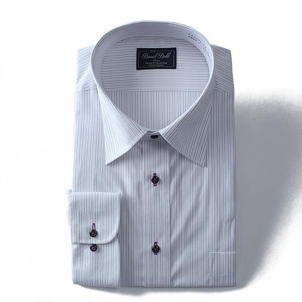 2点目半額 大きいサイズ メンズ DANIEL DODD ビジネス Yシャツ 長袖 ワイシャツ 形態安定 抗菌防臭 ワイドカラーシャツ ビジネスシャツeadn81-63
