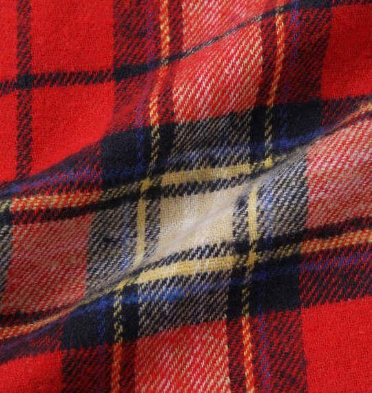 大きいサイズ メンズ Ed Hardy チェック長袖ネルシャツ レッド 1177-7320-1 3L 4L 5L 6L