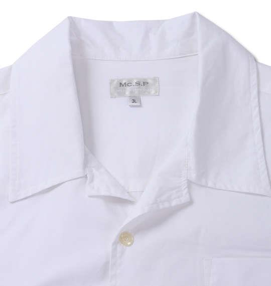 大きいサイズ メンズ Mc.S.P 長袖オープンカラーシャツ ホワイト 1177-7350-1 3L 4L 5L 6L 8L