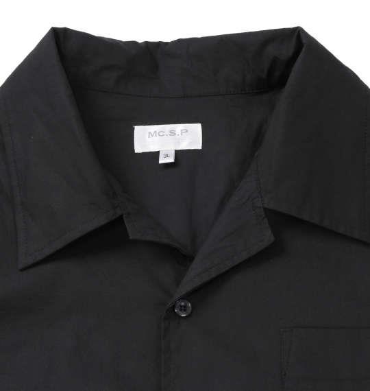 大きいサイズ メンズ Mc.S.P 長袖オープンカラーシャツ ブラック 1177-7350-2 3L 4L 5L 6L 8L