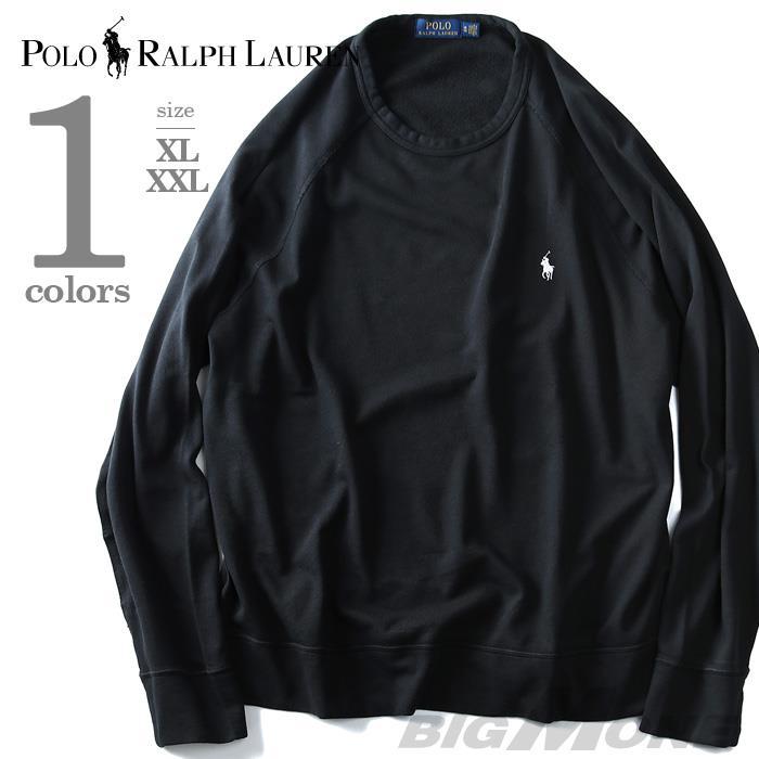 大きいサイズ メンズ POLO RALPH LAUREN ポロ ラルフローレン ワンポイント トレーナー 長袖 ラグラントレーナー ブラック XL XXL USA 直輸入 710675655001