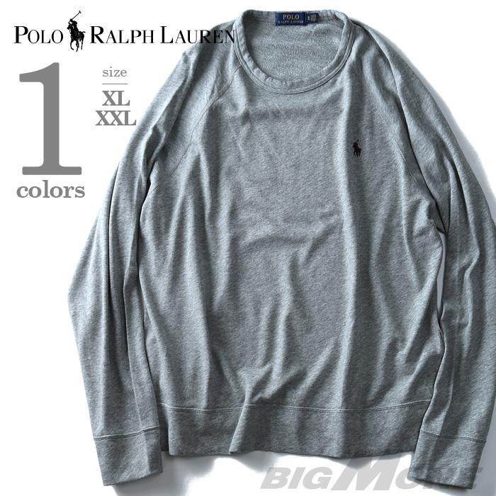 大きいサイズ メンズ POLO RALPH LAUREN ポロ ラルフローレン ワンポイント トレーナー 長袖 ラグラントレーナー グレー XL XXL USA 直輸入 710675655003
