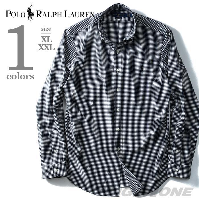 大きいサイズ メンズ POLO RALPH LAUREN ポロ ラルフローレン 長袖 シャツ チェック ボタンダウンシャツ 長袖シャツ ブラック XL XXL USA 直輸入 710673019001