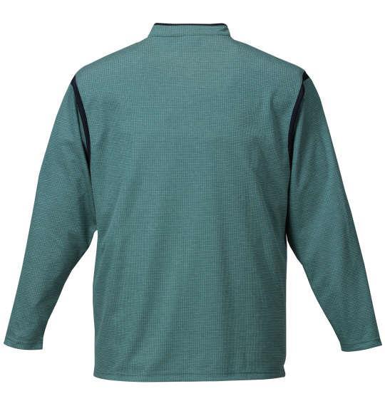 大きいサイズ メンズ TaylorMade コンビネーションジップモックシャツ グリーン杢 1178-7350-1 4XO 5XO 6XO