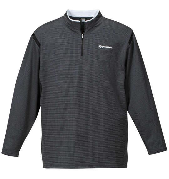 大きいサイズ メンズ TaylorMade コンビネーションジップモックシャツ ブラック杢 1178-7350-2 4XO 5XO 6XO