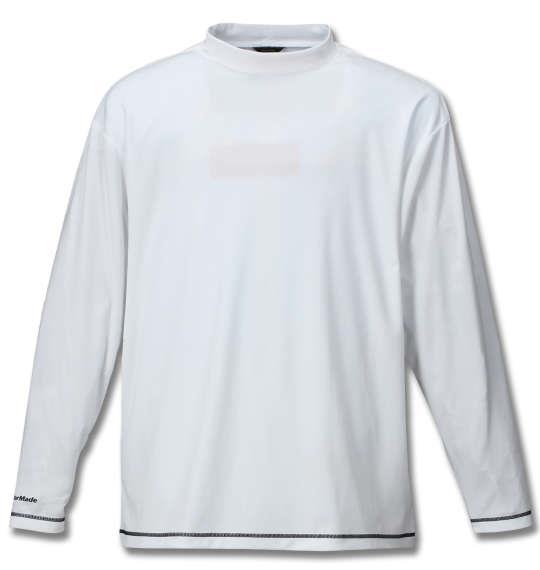 大きいサイズ メンズ TaylorMade カラーブロックレイヤードシャツ ネイビー × ホワイト 1178-7351-2 4XO 5XO 6XO