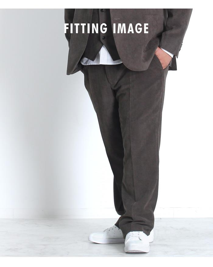 大きいサイズ メンズ DANIEL DODD ビジネスパンツ ハチスワンタック セットアップ スラックス azsl3217602