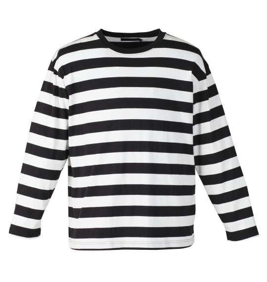 大きいサイズ メンズ Mc.S.P 長袖 Tシャツ ボーダー 長袖Tシャツ ホワイト × ブラック 1158-7640-1 3L 4L 5L 6L 8L