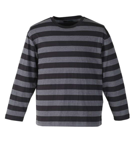 大きいサイズ メンズ Mc.S.P 長袖 Tシャツ ボーダー 長袖Tシャツ ブラック × チャコール 1158-7640-2 3L 4L 5L 6L 8L