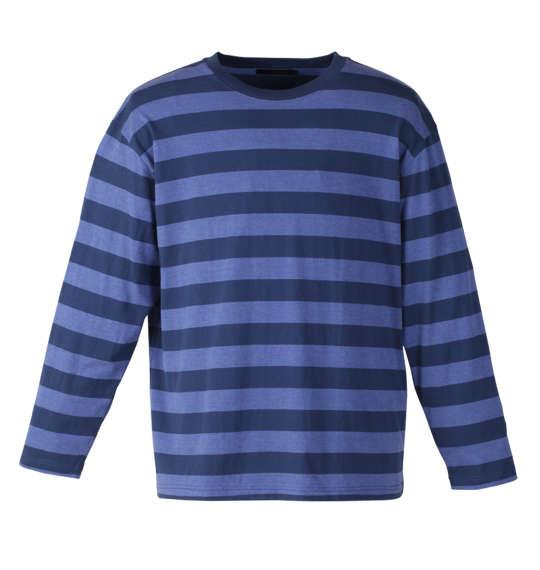 大きいサイズ メンズ Mc.S.P 長袖 Tシャツ ボーダー 長袖Tシャツ ネイビー × ブルー 1158-7640-3 3L 4L 5L 6L 8L