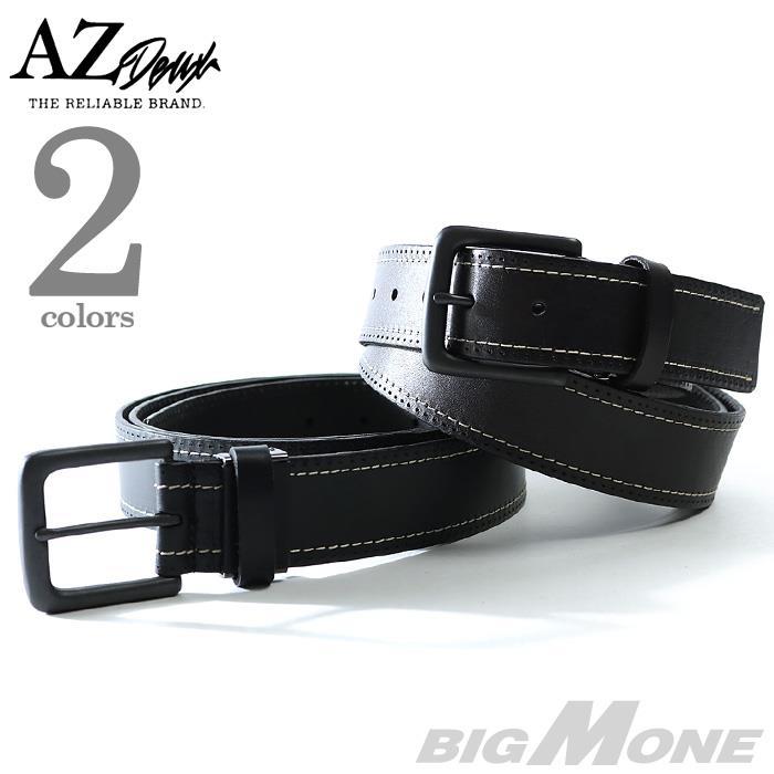大きいサイズ メンズ AZ DEUX サイドステッチ レザー ベルト azcl-179042