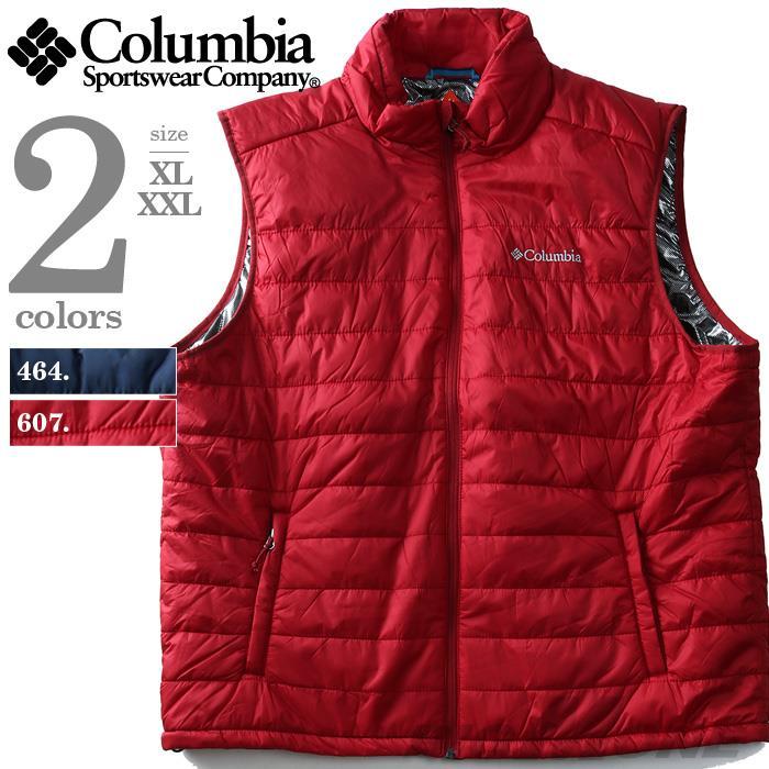大きいサイズ メンズ Columbia コロンビア ベスト ナイロンベスト OMNI-HEAT USA 直輸入 xm0041