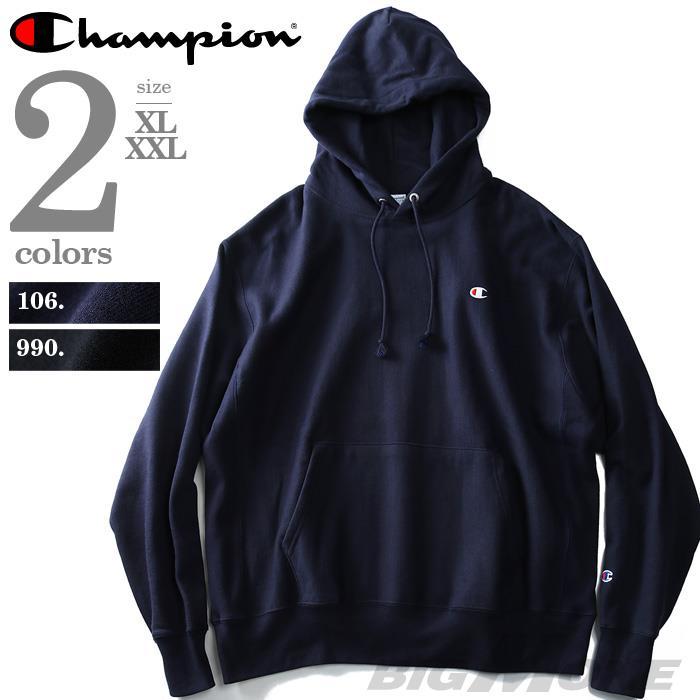 【大きいサイズ】【メンズ】Champion(チャンピオン) リバースウィーブ プルパーカー【USA直輸入】gf68