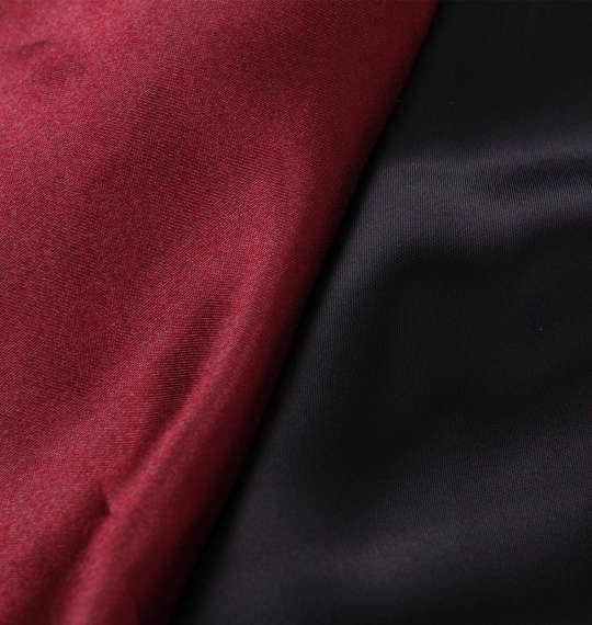 大きいサイズ メンズ 絡繰魂 竹林に虎刺繍 スカジャン アウター ジャンパー ブラック × エンジ 1153-8150-1 3L 4L 5L 6L