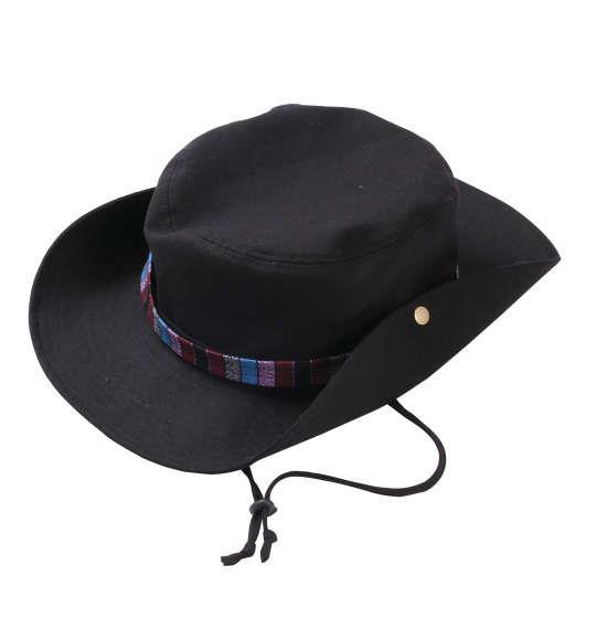 大きいサイズ メンズ So and so アドベンチャー サファリハット 帽子 ハット キャップ ブラック 1160-8110-1 4L