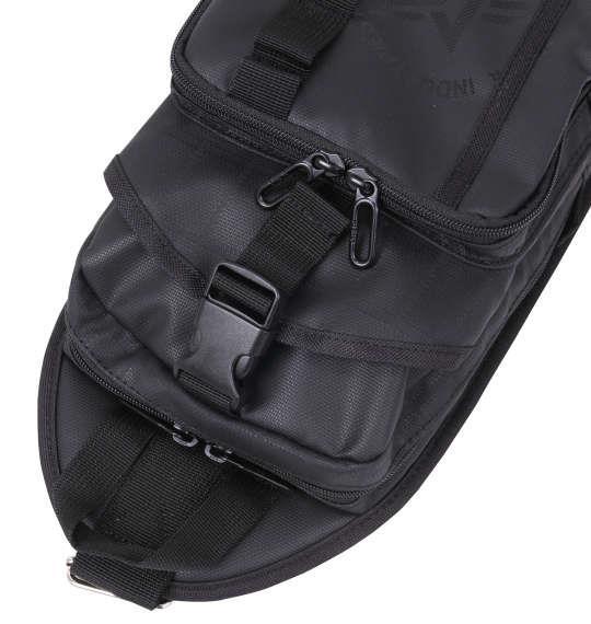 大きいサイズ メンズ ALPHA INDUSTRIES カーボンリップ マルチポケット タテ型 ボディバッグ カバン バッグ ブラック 1160-8121-2 F