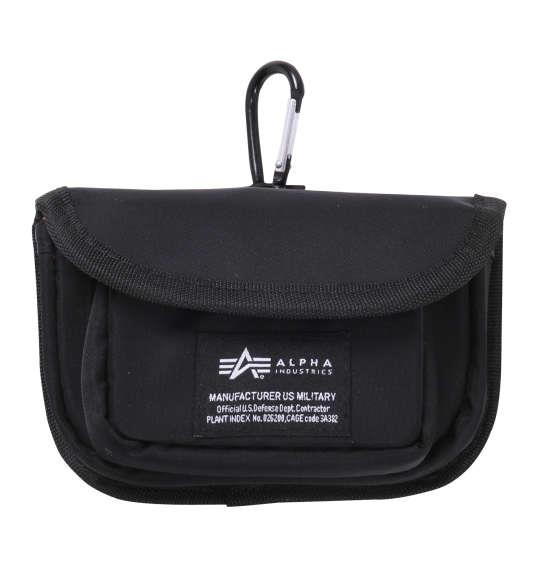 大きいサイズ メンズ ALPHA INDUSTRIES ソフトツイル ヨコ型 コージーケース ブラック 1160-8123-2 F