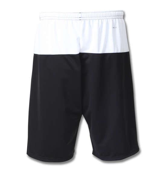 大きいサイズ メンズ adidas ウォームアップ ハーフパンツ ボトムス ズボン パンツ 短パン ブラック 1176-8152-2 3XO 4XO 5XO 6XO 7XO 8XO
