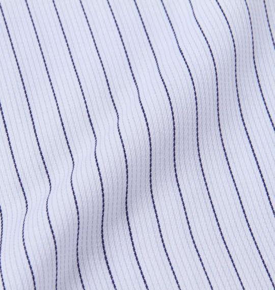 大きいサイズ メンズ HIROKO KOSHINO HOMME ドゥエB.D長袖シャツ ホワイト × ネイビー 1177-8101-1 3L 4L 5L 6L 7L 8L