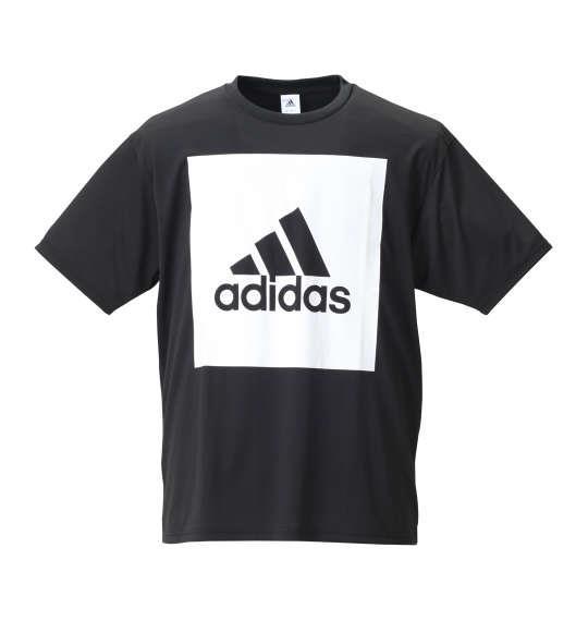 大きいサイズ メンズ adidas ビッグスクエアロゴ半袖Tシャツ ブラック 1178-8100-2 3XO 4XO 5XO 6XO 7XO 8XO