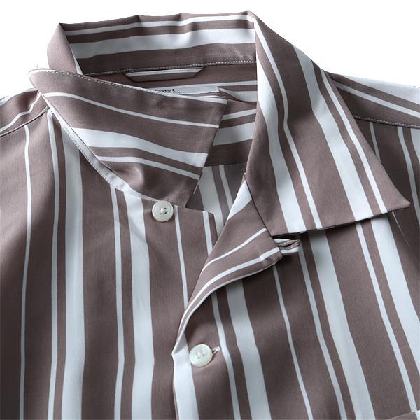 大きいサイズ メンズ DANIEL DODD 長袖バーディカルストライプオープンカラーシャツ 916-180103