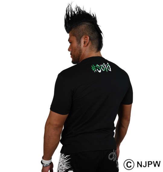 大きいサイズ メンズ 新日本プロレス SANADA「NO QUIERO」半袖Tシャツ ブラック 1178-8113-1 3L 4L 5L 6L 8L