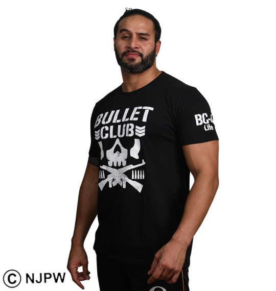 大きいサイズ メンズ 新日本プロレス BULLET CLUB'17半袖Tシャツ ブラック 1178-8114-1 3L 4L 5L 6L 8L