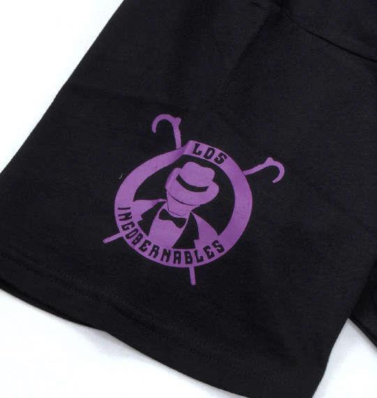 大きいサイズ メンズ 新日本プロレス ロス インゴベルナブレス デ ハポン半袖Tシャツ ブラック × パープル 1178-8115-1 3L 4L 5L 6L 8L