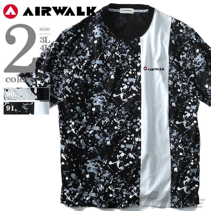 大きいサイズ メンズ AIRWALK (エアウォーク) スプラッシュプリント半袖Tシャツ 8260-5145