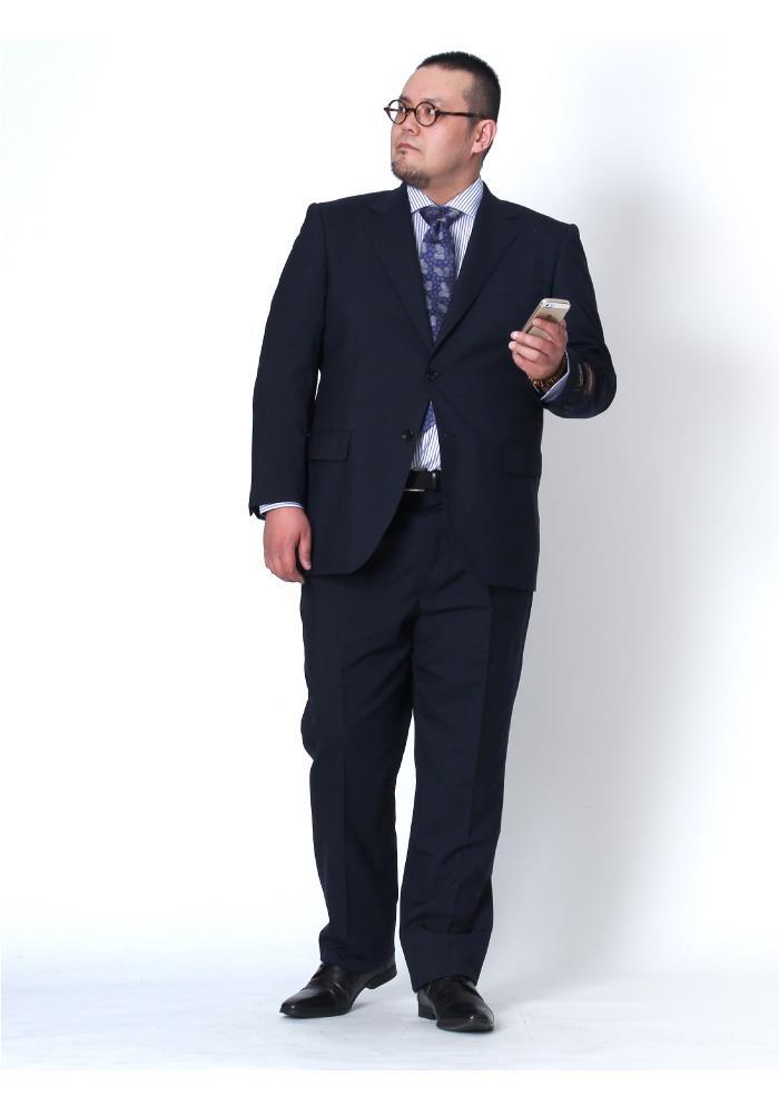 大きいサイズ メンズ SARTORIA BELLINI CORDURA (コーデュラ) 2ツ釦スーツ az82303-l