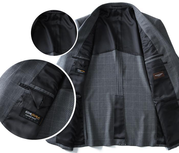 大きいサイズ メンズ SARTORIA BELLINI CORDURA (コーデュラ) 2ツ釦スーツ az82304-l