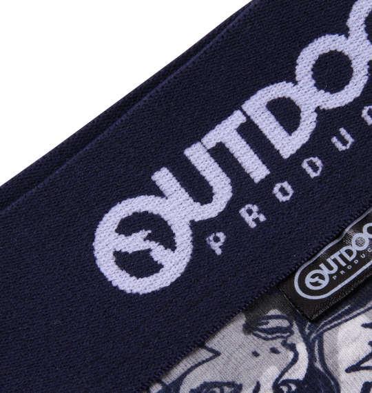 大きいサイズ メンズ OUTDOOR PRODUCTS カモフラ コミック ボクサーパンツ 下着 肌着 インナー 前開き ボクサー パンツ ネイビー 1149-8260-1 3L 4L 5L 6L