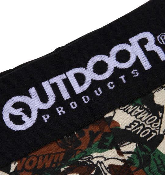 大きいサイズ メンズ OUTDOOR PRODUCTS カモフラ コミック ボクサーパンツ 下着 肌着 インナー 前開き ボクサー パンツ ブラック 1149-8260-2 3L 4L 5L 6L