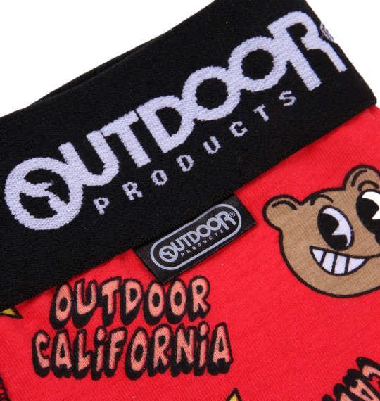 大きいサイズ メンズ OUTDOOR PRODUCTS クマ ボクサーパンツ 下着 肌着 インナー 前開き ボクサー パンツ レッド 1149-8261-2 3L 4L 5L 6L