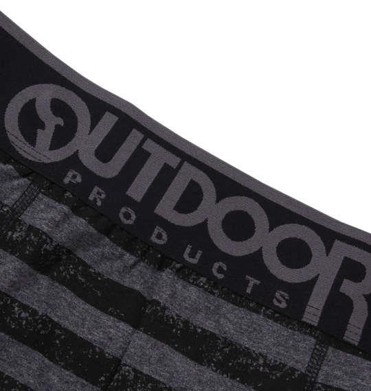 大きいサイズ メンズ OUTDOOR PRODUCTS ブラックパターン ボクサーパンツ 下着 肌着 インナー 前開き ボクサー パンツ ブラック ボーダー 1149-8262-2 3L 4L 5L 6L