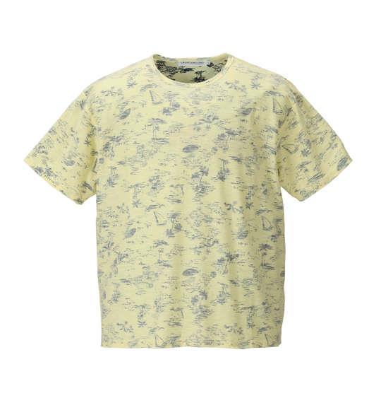 大きいサイズ メンズ launching pad 裏 プリント アロハ柄 半袖 Tシャツ 半袖Tシャツ イエロー系 1158-8214-2 3L 4L 5L 6L