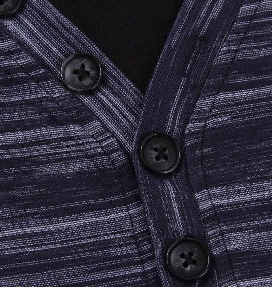 大きいサイズ メンズ Mc.S.P フェイク レイヤード Yネック ヘンリー 半袖 Tシャツ 半袖Tシャツ ネイビー杢 1158-8225-3 3L 4L 5L 6L 8L 10L