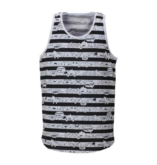 大きいサイズ メンズ LUCPY 半袖Tシャツ + タンクトップ アンサンブル セット ブルー 1158-8257-1 3L 4L 5L 6L