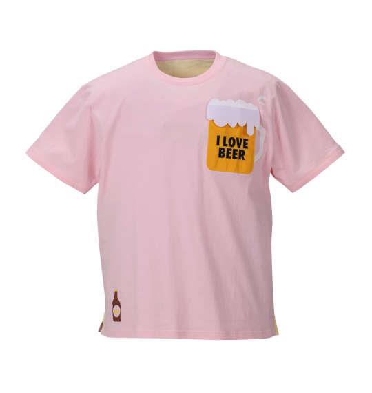 大きいサイズ メンズ MODISH GAZE おもしろポケット 半袖 Tシャツ 半袖Tシャツ ピンク 1158-8261-1 3L 4L 5L 6L