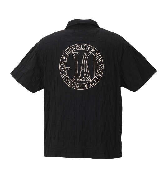大きいサイズ メンズ GLADIATE リンクス ジャガード 刺繍 半袖 ポロシャツ ブラック 1158-8506-1 3L 4L 5L 6L