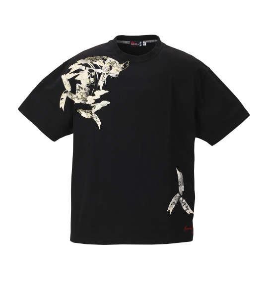 大きいサイズ メンズ 絡繰魂抜刀娘 妃那かぐや姫 半袖 Tシャツ 半袖Tシャツ ブラック 1158-8520-1 3L 4L 5L 6L