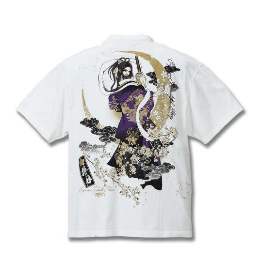 大きいサイズ メンズ 絡繰魂抜刀娘 凛織姫 半袖 Tシャツ 半袖Tシャツ ホワイト 1158-8522-1 3L 4L 5L 6L